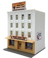 Model-Power Brown Coffee Company/Shop Kit N Scale Model Railroad Building #1592