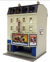 Model-Power Good View Movie Theater Kit N Scale Model Railroad Building #1593