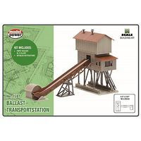 Model-Power Ballast Transport Station Kit N Scale Model Railroad Building #1597