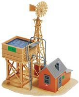Model-Power Prairie Water Station & Shed w/Windmill Kit HO Scale Model Railroad Building #180