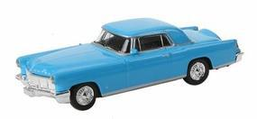 Model-Power 56 Lincoln Continental Mark II Coral Blue HO Scale Model Railroad Vehicle #19483