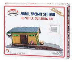 Model-Power Small Freight Station Kit HO Scale Model Railroad Building #202