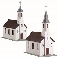 Model-Power St Matthews Church Kits (MRC) HO Scale Model Railroad Building #207