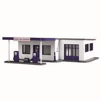 Model-Power Dons Gas Station Kit HO Scale Model Railroad Building #209