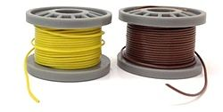 Model Power Hook-Up Wire - 1-Conductor Extra Fine 25' Spools (2) -- Model Railroad Electrical -- #2299