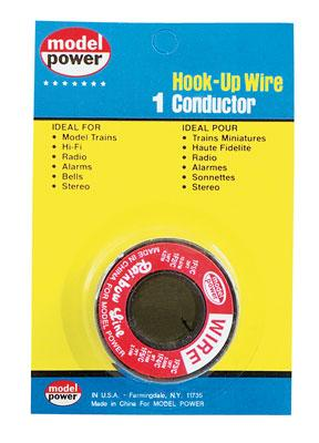Model-Power Hook-Up Wire 1 Conductor Red 35 Model Railroad Hook-Up Wire #2301