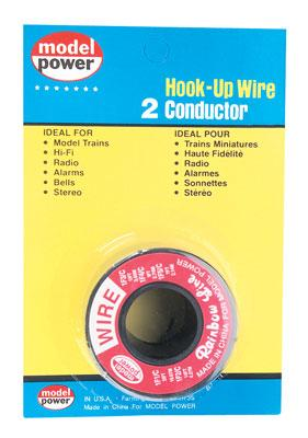 Model-Power Hook-Up Wire 2 Conductor Red/Black 14 Model Railroad Hook-Up Wire #2302