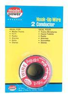 Model-Power Hook-Up Wire 2 Conductor Red/Black 14' Model Railroad Hook-Up Wire #2302