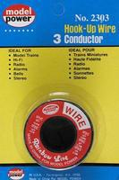 Model-Power 3 Conductor Red/White/Blue Wire 12 feet Model Railroad Hook-Up Wire #2303