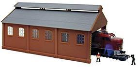 Model-Power Loco Maintenance with Dummy Loco Built-Up N Scale Model Railroad Building #2564