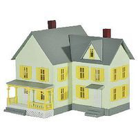 Model-Power Dr. Andrews House Built-Up N Scale Model Railroad Building #2618