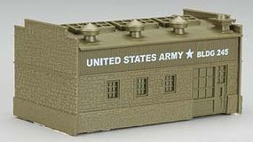 Model-Power US Army Lighted Transportation Depot Built-Up N Scale Model Railroad Building #2682
