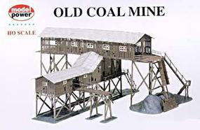 Model-Power Old Coal Mine Kit HO Scale Model Railroad Building #316