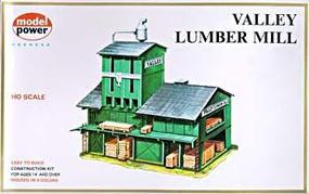 Model-Power Lumber Yard Kit HO Scale Model Railroad Building #407