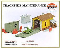Model-Power Trackside Maintenance Kit HO Scale Model Railroad Building #408