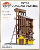 Model-Power Coaling Station Kit HO Scale Model Railroad Building #410