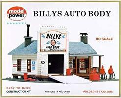 Model-Power Billys Auto Body Kit HO Scale Model Railroad Building #414