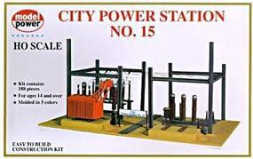 Model-Power City Power Station Kit HO Scale Model Railroad Building Kit #416
