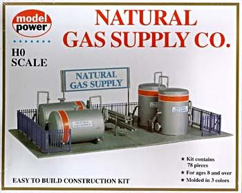 Model-Power Natural Gas Supply Station Kit HO Scale Model Railroad Building Kit #417