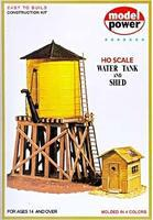 Model-Power Water Tank & Shed Kit HO Scale Model Railroad Building #428