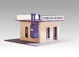 Model-Power Power Station Kit HO Scale Model Railroad Building #443