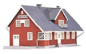 Model-Power Chester Station Kit HO Scale Model Railroad Building #454