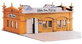 Model-Power Globe News & Printing Kit HO Scale Model Railroad Building #477