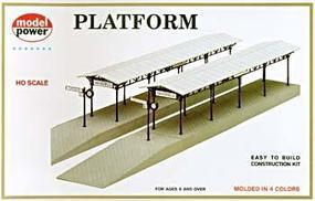 Model-Power Station Platform Kit HO Scale Model Railroad Building #478