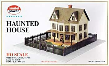 Model Power Haunted House Kit -- HO Scale Model Railroad Building -- #486