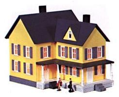 Model-Power Grandma's House Kit HO Scale Model Railroad Building #487