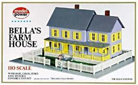Model-Power Bellas Farm House Kit HO Scale Model Railroad Building #490