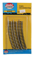 Model-Power Curved track R2 (3 pack N Scale Nickel Silver Model Train Track #4924