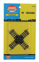 Model-Power 90-Degree Crossing N Scale Nickel Silver Model Train Track #4959
