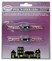 Model-Power Peel-N-Stick LED/Resistors (4 Pack) Model Railroad Lighting Kit #5101