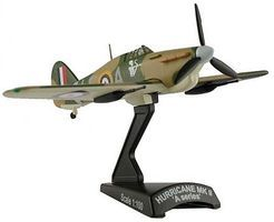 Model-Power Hurricane Mk II Aircraft Built-Up Die Cast Diecast Model Airplane 1/100 Scale #53402