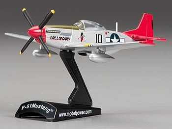 Model-Power P-51D Mustang Tuskegee Diecast Model Airplane 1/100 Scale #5342-7