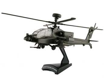 Model Power Apache Helicopter HO -- Diecast Model Helicopter -- 1/100 scale -- #5600