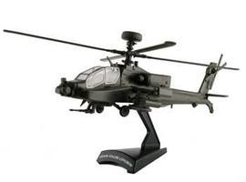 Model-Power Apache Helicopter HO Diecast Model Helicopter 1/100 scale #5600