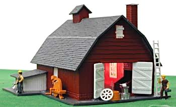 Model Power Horse Stable Built-Up HO