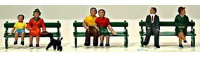 Model-Power Sitting Figures with Bench (6) HO Scale Model Railroad Figure #5725