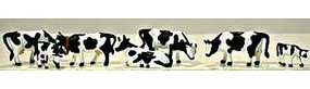 Model-Power Cows and Calves Black and White (7) HO Scale Model Railroad Figure #5731
