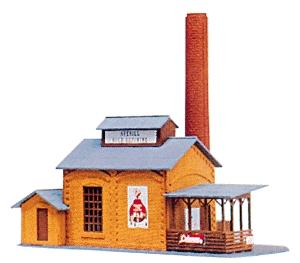 Model-Power Averill Gold Refining Built-Up HO Scale Model Railroad Building #576