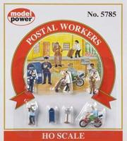 Model-Power Postal Workers HO Scale Model Railroad Figure #5785