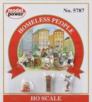 Model-Power Homeless People HO Scale Model Railroad Figure #5787