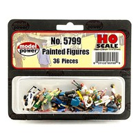 Model-Power 36 Painted Figures (people) HO Scale Model Railroad Figure #5799