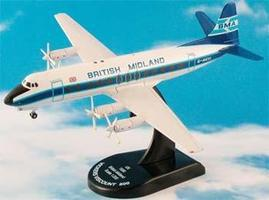 Model-Power Vicker Viscount 800 British Midland Diecast Model Airplane 1/200 scale #5818