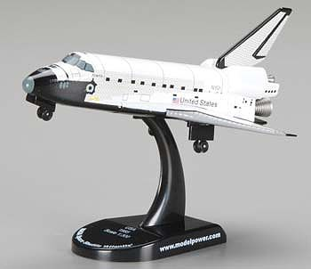 Model-Power NASA Space Shuttle Atlantis Diecast Space Shuttle Program 1/300 scale #5823-1