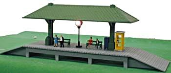 Model-Power Station Platform Built-Up HO Scale Model Railroad Trackside Accessory #583
