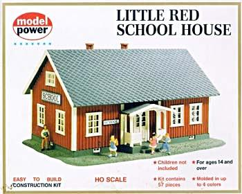 Model Power Little Red School House Kit -- HO Scale Model Railroad Building -- #604