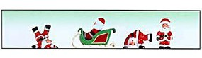 Model-Power Large Sleigh with 4 Different Santas - O Scale Model Railroad Figure #6057